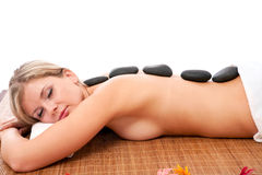 Lastone massage concept royalty free stock images