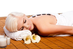 Lastone therapy at relaxing spa Stock Photos