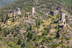 Lastours, Francja obrazy royalty free