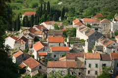Lastovo town on the island Lastovo in Croatia Royalty Free Stock Images