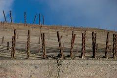 Lastra del cemento armato Fotografia Stock Libera da Diritti