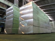 Lastra di alluminio fotografie stock libere da diritti