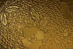 Lastra di vetro decorata con il fiore #2 Immagine Stock Libera da Diritti