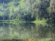Lastra di vetro di Ranu Fotografie Stock