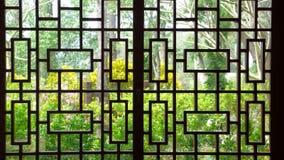 Lastra di vetro di stile cinese Immagini Stock