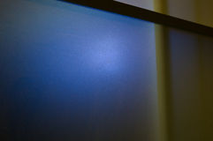 lastra di vetro di vetro opaca Semi-trasparente con le luci colorate Immagini Stock Libere da Diritti