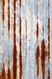 Lastra di zinco arrugginita Fotografia Stock Libera da Diritti