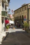 Lastra en Signa kommun i Tuscany, historisk stadsmitt arkivbild
