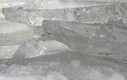 Lastre del ghiaccio Fotografie Stock Libere da Diritti