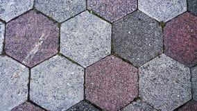 5 lastre per pavimentazione parteggiate su un sentiero per pedoni Immagine Stock Libera da Diritti