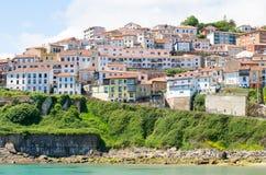 Lastres,阿斯图里亚斯,西班牙的海滨村庄 免版税库存照片