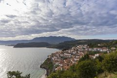 Lastres Asturias, Spain. Lastres, town located in Asturias coast, Spain royalty free stock photography