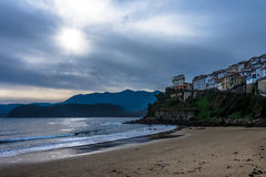 Lastres at sunset. Little typical fishing village in the North of Spain Royalty Free Stock Photography