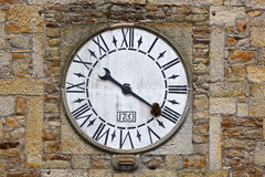 Lastres Tower clock close up Royalty Free Stock Photos
