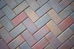 Lastricatori di pietra del patio del mattone, variopinti Immagine Stock Libera da Diritti