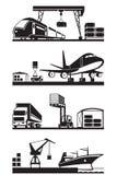 Lastterminaler i perspektiv Arkivbild