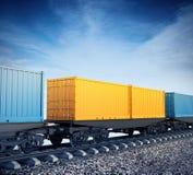 Lastwagen des Güterzugs Lizenzfreie Stockfotos