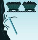 Lastwagen geladen mit Kohle lizenzfreie abbildung