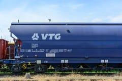 Lastwagen von VTG, eine deutsche Frachtfirma Stockfotografie