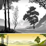 lasu azjatykci deszcz royalty ilustracja