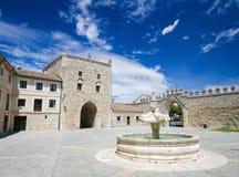 Lasu Huelgas opactwo blisko Burgos w Hiszpania Fotografia Stock
