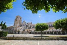 Lasu Huelgas opactwo blisko Burgos w Hiszpania Obraz Royalty Free