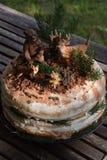 Lasu inspirowany urodzinowy tort fotografia stock