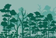 Lasu krajobrazowy wektorowy wizerunek ilustracja wektor