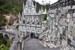 Lasu Lajas kościół w południe Kolumbia zdjęcie stock