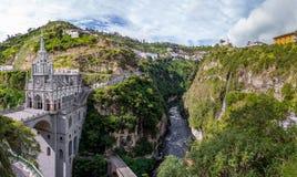Lasu Lajas sanktuarium - Ipiales, Kolumbia Fotografia Royalty Free