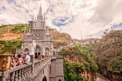 Lasu Lajas sanktuarium, kościół katolicki, Kolumbia zdjęcie royalty free