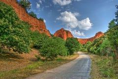 Lasu Medulas rzymianina antyczne kopalnie Zdjęcie Royalty Free