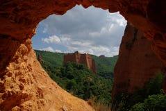 Lasu Medulas rzymianina kopalnie złota Zdjęcia Royalty Free