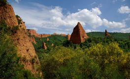 Lasu Medulas rzymianina kopalnie złota Fotografia Royalty Free