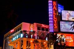 Lasu Vegas bulwar przy nocą zdjęcia stock