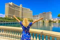 Lasu Vegas lata kobieta zdjęcie royalty free