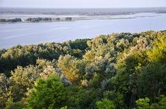 lasu zmierzch krajobrazowy rzeczny Obraz Stock