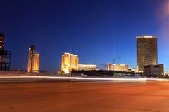 LasVegas in the night. LAS VEGAS - DEC 27: LasVegas hotels and casino on December 27, 2012 in Las Vegas. 2012 hit record number of visitors over 39.7million Royalty Free Stock Image