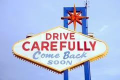 lasy podpisują Vegas Obrazy Royalty Free