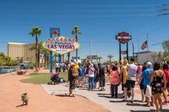 lasy podpisują Vegas Zdjęcia Stock