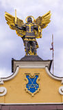 Laszki bramy świętego Michael statuy majdanu kwadrat Kijów Ukraina obraz stock
