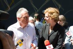 Laszlo Borbely - ex Minister von Umwelt und Wälder von Rumänien lizenzfreie stockbilder