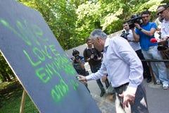 Laszlo Borbely - ministre d'environnement ex et forêts de la Roumanie Photos libres de droits