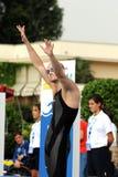 Laszlo Cseh. MILAN, ITALY - SEPT 21: Laszlo Cseh swimming champion during the performance september 21, 2008 in Milan, ITALY Stock Image