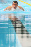 Laszlo Cseh. MILAN, ITALY - SEPT 21: Laszlo Cseh swimming champion during the performance september 21, 2008 in Milan, ITALY Royalty Free Stock Photo