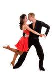 Latín 13 de los bailarines del salón de baile Foto de archivo
