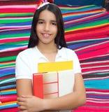 Latín adolescente de la chica joven triguena del estudiante Imagen de archivo libre de regalías