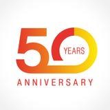50 lat świętuje klasycznego loga royalty ilustracja