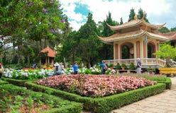 Lat du DA de monastère de temple de Thien Vien Truc Lam, Vietnam photos stock