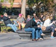 Lat eftermiddag i Manhattan Fotografering för Bildbyråer